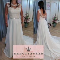 Leicht fliessend mit traumhafter Spitze. Lace Wedding, Wedding Dresses, Formal Dresses, Fashion, Lace, Bride Dresses, Dresses For Formal, Moda, Bridal Wedding Dresses