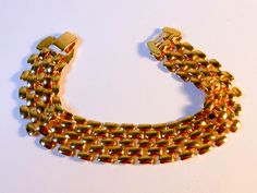 Gold Mesh Bracelet  17 Inch  Width 15 MM by GemstoneCowboy on Etsy