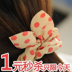 Special rabbit ears hair ring hair rope hair color New South Korea imported fabric tie headdress head flower hair accessories - Taobao Depot, Taobao Agent
