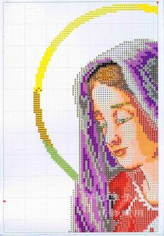 Cross Stitch Fabric, Cross Stitching, Cross Stitch Patterns, Religion, Embroidery, Tutorials, Cross Stitch Embroidery, Christ, Saints