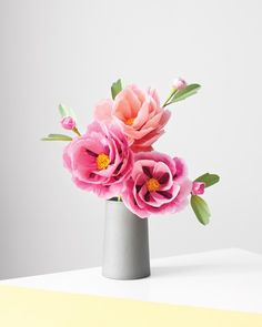 When you don't have a fresh bouquet, make your own beautiful blooms using crepe or tissue paper! They don't need watering, thrive even without sunlight, and never wilt. In other words, it's spring all year long. Follow one of our