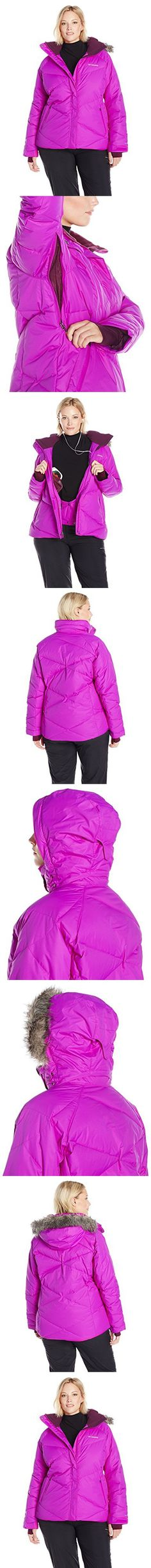 Columbia Sportswear Women's Plus Lay D Down Jacket, Bright Plum Dobby, 1X