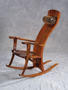 Koa Wood Rocking Chair by Robert Lippoth Studio on Maui.