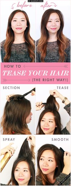 How to Tease Your Hair The Right Way! // #volume #hair #beauty