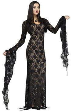 Lace Morticia Dress - Womens Costume from Buycostumes.com Halloween costume ideas