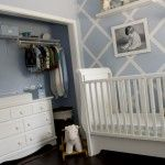 **love the wall!** Great use of space, color and small items to make the nursery nice.