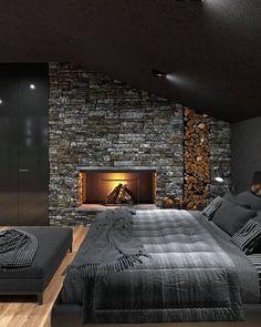 Luxury Bedroom Design, Home Room Design, Dream Home Design, Master Bedroom Design, Modern House Design, Modern Bedroom, Home Interior Design, Interior Ideas, 60s Bedroom