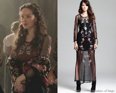 In the sixteenth episode Lola wears this Free People Mesh Peonies Maxi Dress ($122,85). Worn with Danielle Stevens ring.