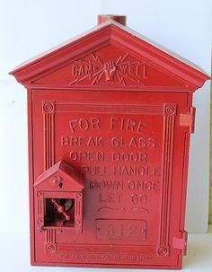 Circa 1919 Gamewell Cast Iron Fire Alarm Box