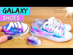 4b07d193321aac DIY Galaxy Shoes for American Girl dolls!