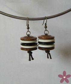 buttons _orecchini con bottoni. Handmade jewellery