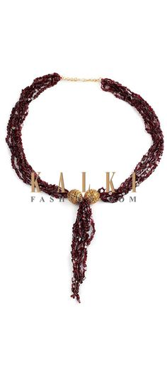 Buy Online from the link below http://www.kalkifashion.com/ruby-garnet-temple-necklace.html