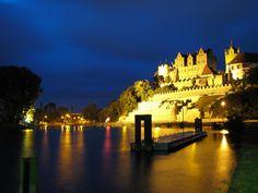 Bernburg's Castle during the night