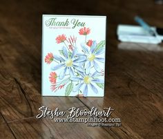 Daisy Delight Bundle by Stampin' Up! Used to Create an Easel Desktop Calendar with Drawer for Thursday Feature at Stampin' Hoot! by Stesha Bloodhart Daisy Delight Stampin' Up, Post It Holder, Desktop Calendar, Alcohol Markers, Card Making Tutorials, Folded Cards, Stampin Up Cards, Thank You Cards, Cardmaking