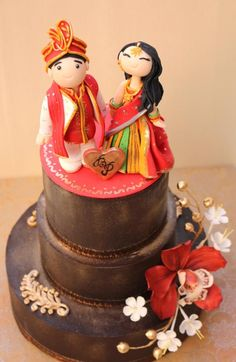 Indian Themed Wedding cake  - Cake by SweetSymphony