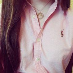 Ralph Lauren polo+ monogramed necklace.