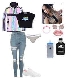 """Untitled #1253"" by sapphirejones ❤ liked on Polyvore featuring Lime Crime, Calvin Klein Underwear, adidas, Topshop, Carole, Sunday Somewhere and adidas Originals"