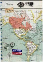 Vintage Travel Notes Journal