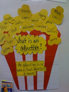 adjective lesson - popcorn adjectives