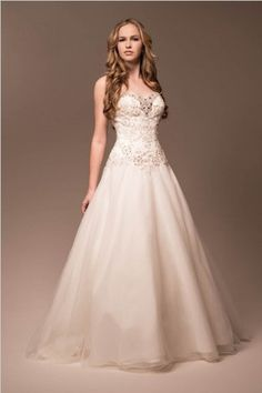 KCW1528 Jeweled Ivory Circle Skirt Wedding Dress by Kari Chang Eternal