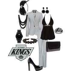Los Angeles Kings, created by lateefah-yallknowme-brown on Polyvore