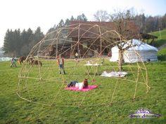 My 6.33m 4V Geodesic Bamboo Dome Skeleton (2007)