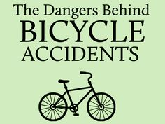 The very real dangers behind bike accidents. What you might not know. - http://www.zacharassociates.com/motor-vehicle-accidents/arizona-car-accident-attorney-can-handle-car-and-bicycle-accidents-too/