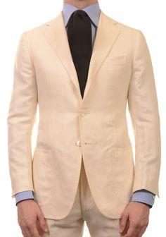 Sartoria PARTENOPEA Hand Made White Wool Suit EU 48 NEW US 38
