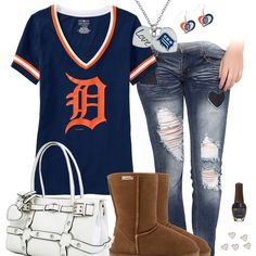 I Heart The Detroit Tigers Outfit