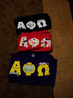 Group of APO letters I gave away for senior send off.  (Yes the navy blue one has Toothless from how to train your dragon on the phi :) )