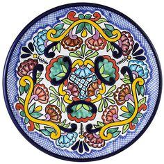 Tomas Huerta TalaveraPlate - Pattern 40 ♥️♣️♣️Talavera Mexican Pottery : More At FOSTERGINGER @ Pinterest ♣️