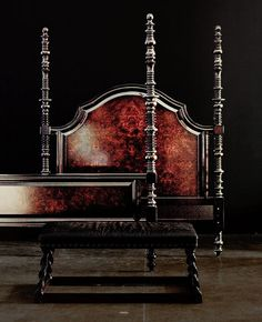 Mindi wood bench with leather seat and barley-twist legs Bench Legs, Southern Heritage, Its A Mans World, World Of Interiors, Cozy Room, Old World Charm, My Face Book, Traditional House, Wood Turning
