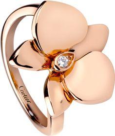 Caresse d'Orchidées par Cartier ring Pink gold, diamond