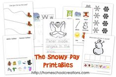 The Snowy Day printable pack includes fun activities to tie in with the book ~ vocabulary words, word tracer cards, a coloring/tracer page, cutting pages, sorting activities, and more!