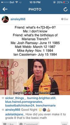 Josh Ramsay, Trench, Bands, Mariana, Band, Band Memes