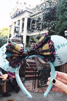 """Disney's New Nightmare Before Christmas Ears Are """"Simply Meant to Be"""" Yours - Disney Ideen Disney Diy, Disney Cute, Diy Disney Ears, Disney Minnie Mouse Ears, Walt Disney, Disney Dream, Disney Style, Disney Trips, Disney Halloween Ears"""
