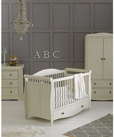 mothercare lulworth 2 piece nursery furniture set classic white