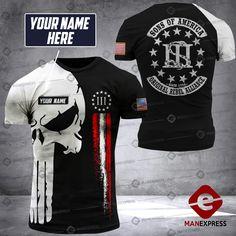 Egyptian Eye Tattoos, Grunt Style Shirts, Punisher T Shirt, Warriors Shirt, Us Man, Short Outfits, Shirt Ideas, Firefighter, Man Cave