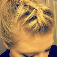 Braided bangs for ponytail