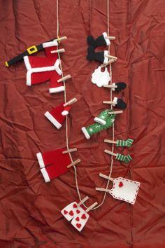 I Vestitini di Babbo Natale *Le Chips di Feltro* - Felt Clothes of Santa Claus