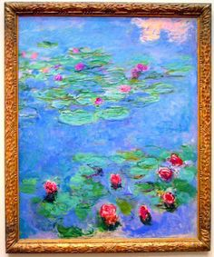 Claude Monet, Water Lilies, c. 19140-17, oil on canvas. Size 65 3/8 x 56 inches (166.1 x 142.2 cm). In the collection of the Fine Arts Museums of San Francisco.