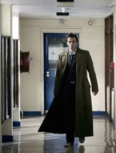 Tennant and his billowing coat of fabulousness...