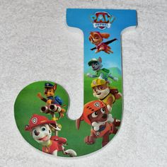 Custom wooden letters or numbers hanging Paw Patrol wood Paw Patrol Cake, Paw Patrol Party, Paw Patrol Birthday, Wood Letters, Letters And Numbers, 2nd Birthday, Birthday Parties, Cake Wallpaper, Baby Month Stickers