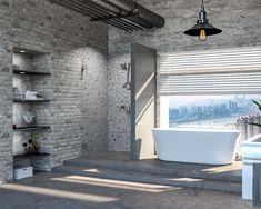 Unique Design Blinds, Bathtub, Curtains, Bathroom, Luxury, Unique, Design, Home Decor, Standing Bath