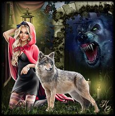 Female Grim Reaper, Wolves And Women, Spiritual Animal, Wolf Love, Beautiful Wolves, Red Riding Hood, Werewolf, Beauty And The Beast, Art Girl