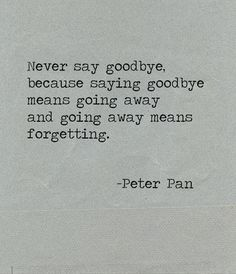we never say goodbye.