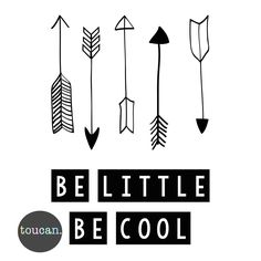 A cool print for the littlie in your life from the fabulous Toucan! This Be Little Be Cool Print features a black and white palette and is very on trend. Fun Prints, Wall Prints, Cool Walls, The Help, Branding Design, Cool Stuff, Inspiration, Home Decor, Arrows