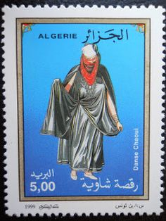 Stamps, covers and postcards of traditional/folk costumes: Stamps / Costumes - Algeria / Alžyras