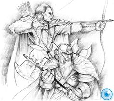 Legolas and Gimli by Demacros.deviantart.com on @deviantART