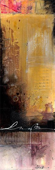 "The Essence Of Being by Kathy Morton Stanion Mixed Media ~ 24 3/4"" x 8 3/8"""